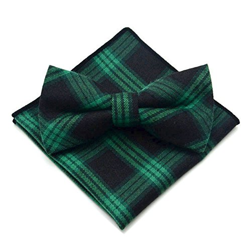 - Secdtie Men's Navy Blue Green Layers Bow Tie Tuxedo Bowtie for Wedding Party 30