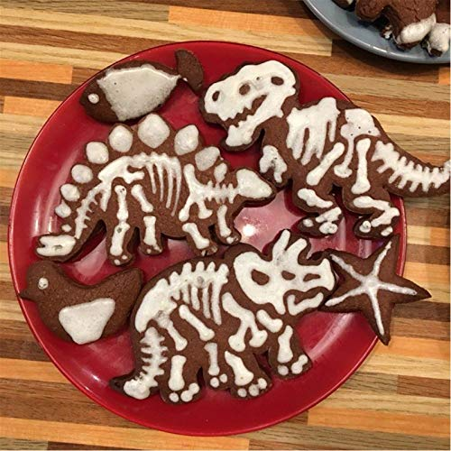 Cookie Cutter - 3pcs Set Cute Dinosaur Shaped Cookie Cutters Ware Bakeware Decorative 2019 - Mouse Hearts Animals Christmas Embosser Mold Tower Rocket Clark Tools Train Pattern Tooth Under G -