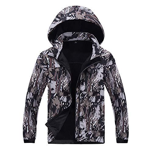 Assault Pressure Suit - CMrtew ❤️ Men's Fleece Inside Camouflage Soft Shell Hoodie Outdoor Outfit Assault Coat (XL, Brown)