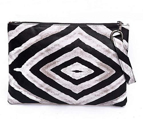 Dolce Na Womens Oversized Clutch Bag Purse Pu Leather Evening Wristlet Handbag (79 Zebra Stripe)