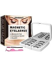 Faux Cils Magnétiques,Faux Cils 3D,Falses Lashes Magnétiques,sans colle aspect naturel pour extension de cils de maquillage,avec 1 Pince à Cils