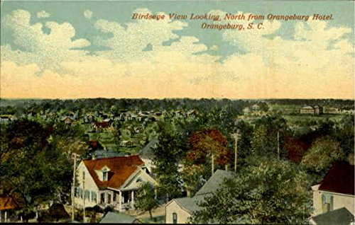 Birds Eye View Looking North From Orangeburg Hotel Orangeburg, South Carolina Original Vintage Postcard