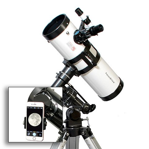 flector Telescope With Universal Smartphone Camera Adapter (White) (4.5 Inch Reflector)