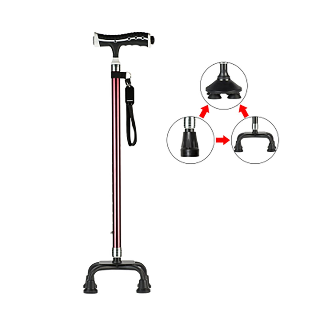 XUEPING 高齢者と軽い松葉杖で歩くスティック5つのスタイル2色歩行可能なスティック調整範囲70 Cm-96 Cm ( 色 : 赤ワイン , サイズ さいず : E ) B078Y2ZSTG E 赤ワイン 赤ワイン E
