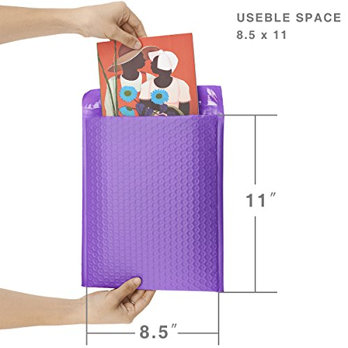 FU GLOBAL Purple Bubble Mailers 8.5x12 Inch #2 Padded Envelopes Pack of 25 Photo #4
