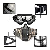 Tactical Airsoft Half Face Mask Foldable