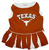 Texas Longhorns Dog Cheer Leading Dress & Leash Set Size SM