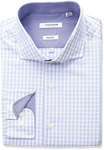 isaac-mizrahi-mens-slim-fit-multi-check-cut-away-collar-dress-shirt-blue-16-neck-34-35-sleeve