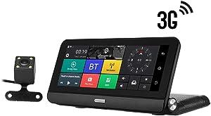 Oliwui 3G WiFi Touch IPS 1080P Dual Lens Navigation Parking Surveillance GPS DVR Dash Cam Camera