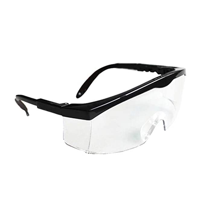 9a2e5a7531c Amazon.com   SimingD Safety Glasses With Translucent Black Polycarbonate  Frame And Clear Indoor Outdoor Mirror(Blue)   Sports   Outdoors