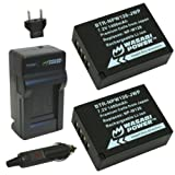 Wasabi Power Battery (2-Pack) and Charger for Fujifilm NP-W126 and Fuji FinePix HS30EXR, HS33EXR, HS50EXR, X-A1, X-E1, X-E2, X-M1, X-Pro1, X-T1