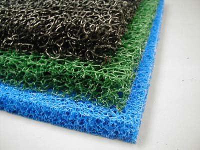 3 Sheets 3 Color Matala Pond Filter Mat Koi Media Pad 12 X 12 Black, Green, Blue