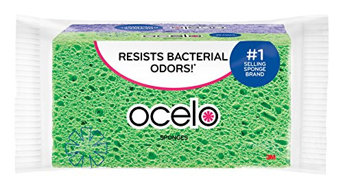 ocelo Handy Utility Kitchen Sponges, colors may vary, 2 Sponges/Pk, 1-Pack (2 Sponges (Utility Sponges)