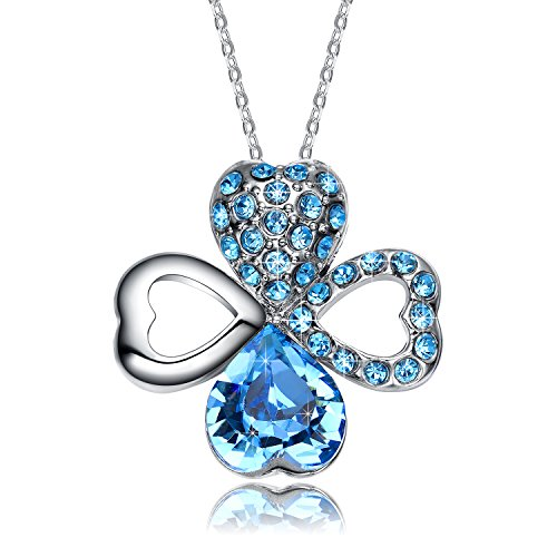 Christmas-Deals-NEEMODA-Happy-Love-Austrian-Crystal-Heart-Clover-Pendant-Necklace-Triple-Gold-Plated-with-Deluxe-Box