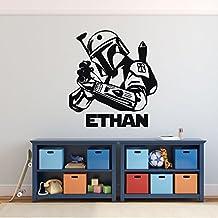 Jango Fett Wall Decor - Star Wars Wall Decor - Personalized Vinyl Decal For Boy's Bedroom, Gameroom or Playroom