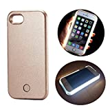 LED Illuminated Case Rechargeable Power Bank, SUNTA LED light up Bright Selfie Fill Light [SOS/Flash Mode] Cell Phone Case External Charger Battery Cover for iPhone 5/5s/SE