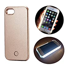 LED Illuminated Case Rechargeable Power Bank, SUNTA LED light up Bright Selfie Fill Light [SOS/Flash Mode] Cell Phone Case External Charger Battery Cover for iPhone 6 Plus/6s Plus