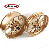 Arashi Wheel Rim Front and Rear for HONDA CBR600RR 2007-2017 Motorcycle Accessories CBR 600 RR CBR600 600RR 600CC Gold 2008 2009 2010 2011 2012 2013 2014 2015 2016