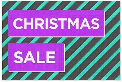 5-Pack Christmas Sale Modern Block Perforated Window Decal 30x20 CGSignLab