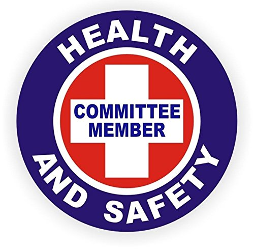 1-Pc Glittering Unique Health And Safety Committee Member Window Stickers Mac Macbook Laptop Luggage Hoverboard Wall Graphics Safe Label Shop Decor Decals Vinyl Art Sticker Decal Patches Size - Obx Dealers