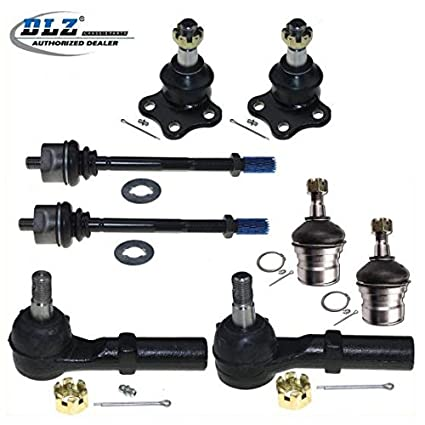 dlz 8 pcs front suspension kit-2 upper 2 lower ball joint 2 inner 2 outer tie  rod end compatible with 1997 1998 1999 dodge dakota 4wd 1998 1999 dodge
