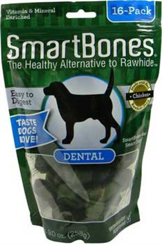 SmartBones Dental Dog Chew, Mini, 16-Pack, My Pet Supplies