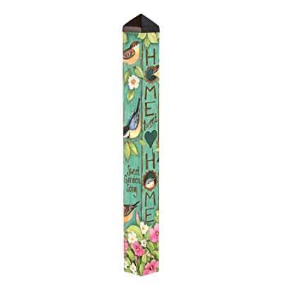 Studio M Garden Art Pole Fade-Resistent Outdoor Décor, 4-Feet Tall, Tweet Home : Garden & Outdoor