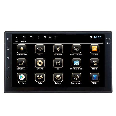 TOPNAVI Android 8.1 Unidad de radio universal para coche estéreo universal coche reproductor de navegación GPS