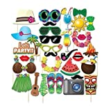 32pcs Hawaii Photo Booth Props masks for Summer Holidays Beach Party Favors