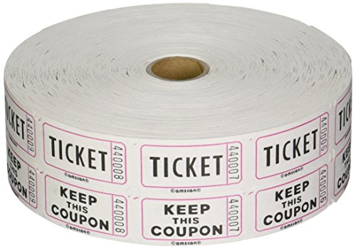Two-Tiered Tear Off Raffle Tickets Party Supply (1 Piece), Pink, One Size (Tear Off Tickets)