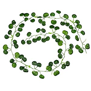 Weka Simulation Green Leaves Plant Vines Artificial Fake Leaf Home Courtyard Decor Ideal For Weddings, Festivals, Parties, Gardens, Fencing, Floral tributes, Sheds -Leaves of Begonia 34
