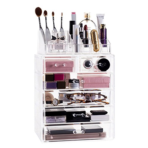 Choice Fun Detachable Acrylic Makeup Organzier Storage Box with 6 Drawers