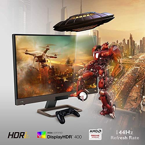 "BenQ EX2780Q - Monitor Gaming de 27"" 2K QHD (2560x1440, 144Hz, 2x HDMI, IPS, HDRi, DCI-P3, DP, USB-C, FreeSync, compatible con PS5/Xbox x) - Bronce"