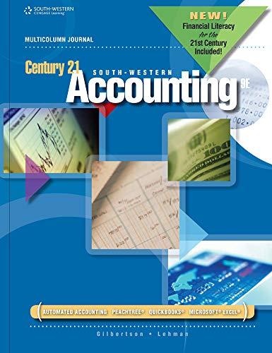 Century 21 Accounting: Multicolumn Journal (DECA)