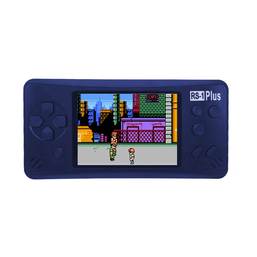 Likero Handheld Game Console,RS-1Plus Portable Handheld Mini Video Console Children Gift 218 Classic Game,Retro Game Console Can Play on TV, Good Gifts for  (Blue) by Likero (Image #1)