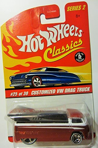 Hot Wheels Classics Series 2 Customized Orange/white VW Drag Truck 25/30 Collector Car