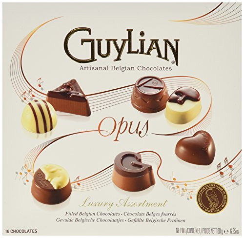 Luxury Chocolate Truffles - Guylian Belgium Chocolates 16 Piece Luxury Assortment Opus, 6.35 Ounce