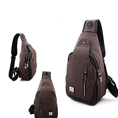 Men Sling Women For Brown Bags Shoulder Travel Outdoors Chest Crossbody Bag Backpack Yilooom g8TwZnxZ