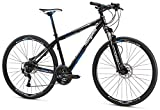 Mongoose Reform Comp 700C Wheel Hybrid Bicycle, Black, 17.5'/Medium