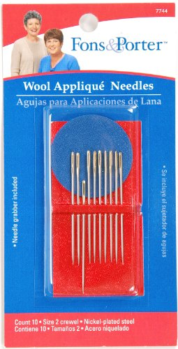 Fon & Porter 7744 Hand Wool Applique Needles, Crewel, Size 2, ()