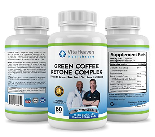 #1 Top Rated 4in1 Weight Loss Formula | Green Coffee, Raspberry Ketone, Green Tea & Garcinia Cambogia | Formulated by Dr. Jason Burke and Dr. Darien Cohen | Lose Weight