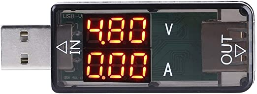USB Tester 3.2-10V0-3A DC Digital Volt Amp MeterTester Charger Indicator