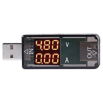 USB Spannungspr/üfer RuiDeng AT34 USB 3.0 Farb-LCD Voltmeter Amperemeter Strommesser Multimeter Ladeger/ät USB Tester