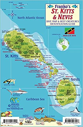 St. Kitts & Nevis Dive Map & Reef Creatures Guide Franko Maps ...