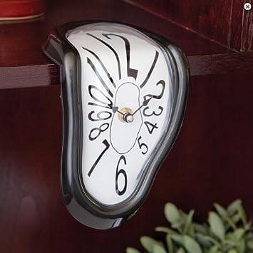 GeekGoodies Melting Table Desk Clock (Black)