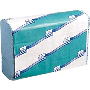 Z Doble las toallas azules. 250 hojas por rollo (Cuadro 12): Amazon.es: Oficina y papelería