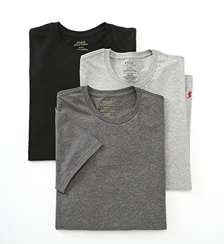 Polo Ralph Lauren Classic Crew Neck T-Shirt 3-Pack, XL, Assorted - Lauren Grey Ralph Polo