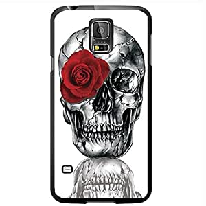 Super Skull with a Red Rose Hard Snap on Phone Case (Galaxy s5 V)