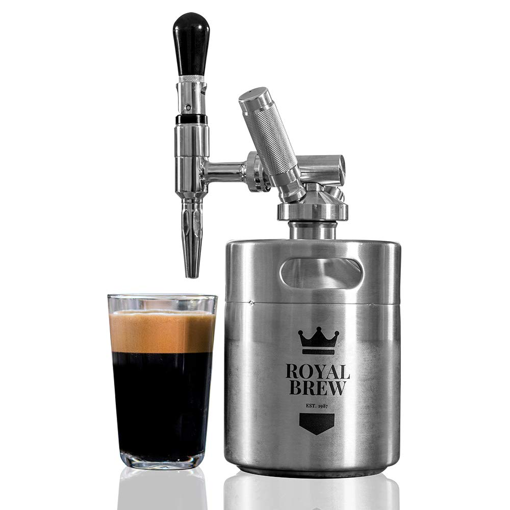 Royal Brew Nitro Cold Brew Coffee Maker Home Keg Kit System by Royal Brew