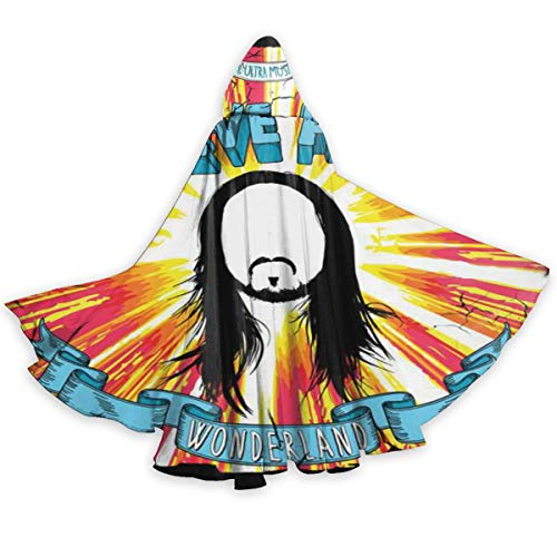 Steve Aoki Halloween (PeterSPappas Steve Aoki Unisex Hooded Halloween Christmas Cloak Costumes Party Cape)